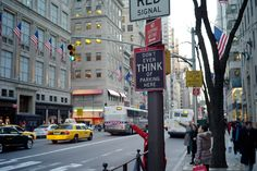 """Welcome to New York, Don't Even Think of Parking Here"" :: Am a sucker for typography and urban landscapes so when traveling in New York this past weekend it was a venerable wonderland. This might be one of my favorite signs found throughout the 72 hours of awesome in NYC. This feels like the municipal equivalent of ""get off my lawn""… ;)"