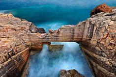 """Ancient fish tank in Crete"" by Hercules Milas Ancient Fish, Crete Island, Long Exposure, Long Hoodie, Hercules, Fish Tank, Travel Bags, Greece, Travel Handbags"