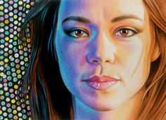 "Saturday Night Sara,  colored pencil 5"" x 7""  by Mary Jones Easley"