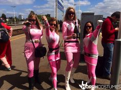 London sevens fancy dress costumes: The Power Rangers - Pink Ranger Morphsuit is living proof that pink isn't for wimps, it's for ladies who PUNCH!
