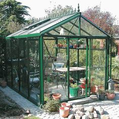 Get clever - use a Greenhouse DIY Kit to build your own She Shed and get yourself a beautiful garden room and a gateway place under the sky. Cheap Greenhouse, Greenhouse Effect, Backyard Greenhouse, Greenhouse Plans, Greenhouse Wedding, Greenhouse Tomatoes, Greenhouse Kitchen, Greenhouse Farming, Deck Pergola