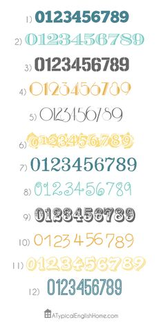 The Twelve Best Number Fonts - A Typical English Home