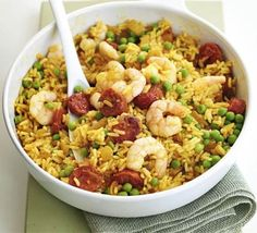 A great dish when you fancy a taste of the med in an instant. This cheat's paella is as authentic as you can be in 10 minutes!