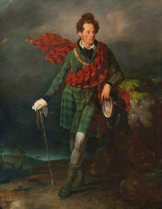 Portrait of Lord MacDonald of Sleat by by George Sanders (Scottish 1774–1846)......windswept....