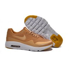 best sneakers 7d57b 0321a Mens Nike Air Max 1 Ultra Moire CH Shoes Gold Yellow Cheap Nike Running  Shoes,