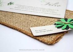 modelo 46: convite de casamento ecológico com envelope de juta - Galeria de Convites