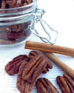 Maple Vanilla Spiced Pecans. So simple! No refined sugars!