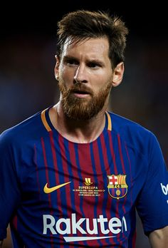 BARCELONA, SPAIN - AUGUST 13: Lionel Messi of Barcelona looks on during the Supercopa de Espana Supercopa Final 1st Leg match between FC Barcelona and Real Madrid at Camp Nou on August 13, 2017 in Barcelona, Spain. (Photo by fotopress/Getty Images) Fc Barcelona, Lionel Messi Barcelona, Barcelona Football, Messi Pictures, Football Pictures, Real Madrid, Messi Soccer, Messi 10, Best Football Players