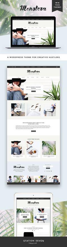WordPress Theme | Modern, minimal web design | Blog Layout | Station Seven | Click through to buy!