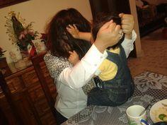 Jalando cabello