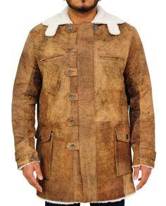 TrendHoop Genuine Swedish Mens Bomber Jacket - Shearling Leather Winter Jacket Coat for Men Bane Dark Knight, The Dark Knight Rises, Bomber Jacket Men, Distressed Leather, Winter Jackets, Men's Jackets, Shirt Style, Coat, Mens Tops