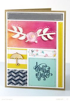 Paper Quilt Card by Julie Campbell at @Studio_Calico #SCofficehours