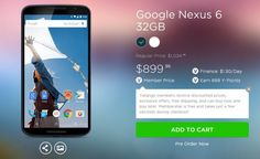 Nexus 6 priced at Yatango – it's going to be expensive.