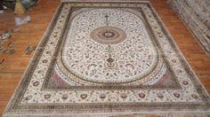 9'x12' Handmade Hand-knotted 200 kpsi Silk Oriental Persian Tabriz Rug 469