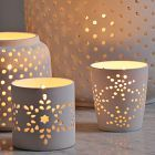 geometric pattern lights...cut paper can give this effect too