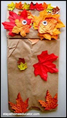 Leaf Man Puppet (to go with Book, Leaf Man by Lois Ehlert)