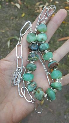 Peruvian opal hand forged sterling silver by ManakbyDesign on Etsy