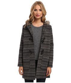 Jack by BB Dakota Leary Patterned Wool Coat