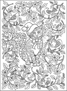 Manatee Christmas Coloring Page Instant Download Adult Coloring