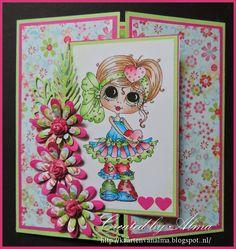 Alma's kaarten: fleurige bloemenkaart