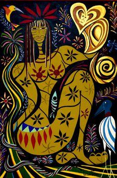 Índia Amazônia, s/d Luciana Futuro ( Santos, Brasil, contemporânea) acrílica www.lucianafuturo.com.br