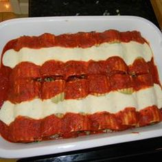 Italian Baked Cannelloni - I make my own pasta  ravioli and have long wanted to make a baked cannelloni other than just plain cheese. This old fashion recipe caught my eye and I think it's exactly what I'm looking for!
