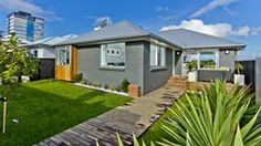 Outside - The Block 3 bedroom brick house in Anzac St, Takapuna by Ben & Libby. North Shore, Exterior Colors, Auckland, Car Parking, Beautiful Homes, The Outsiders, Brick, Shed, House Ideas