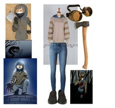 """""""Ticci Toby Cosplay"""" by bloodandglitter ❤ liked on Polyvore featuring J Brand and Vans"""
