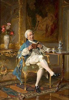 Borione, Bernard Louis (1865-...) An afternoon read