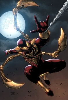 Iron Spider - Pencil & Inks by Wayne Nichols & Color by Jack Lavy