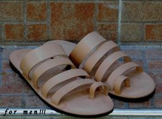 Handmade leather sandal PATROCLOS ...... classic natural ....