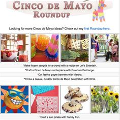 16 DIY Cinco de Mayo craft tutorials, printables, activities and food ideas!