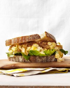 Egg-Salad-and-Caramelized-Onion Sandwichescountryliving