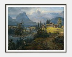 Farm in the Mountains by Johan Christian Dahl  - Fine Art Reproduction - Giclee Print