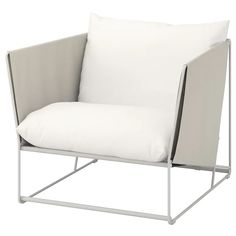 HAVSTEN Armchair, in/outdoor, beige. Generous seats, fluffy cushions as well as elastic mesh fabric make the sofa comfortable. Ikea Outdoor, Outdoor Chairs, Outdoor Furniture, Outdoor Decor, Outdoor Cushion Covers, Outdoor Seat Cushions, Cushions On Sofa, Canapé Design, Sofa Design