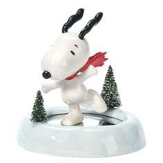 Dept. 56 Peanuts Snoopy On Ice Figurine