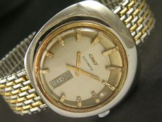 43MM CAMY AUTOMATIC SWISS MEN'S DAY/DATE VINTAGE AIRPORT WATCH a10080