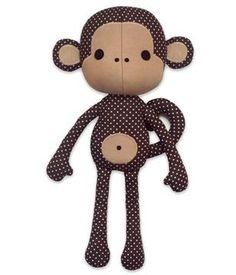 Peluche petit singe - tuto et patron couture - Patrons de couture chez Makerist