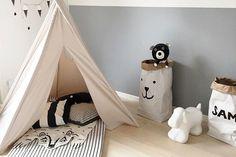 【楽天市場】TELLKIDDO ペーパーバッグ Bear Face【スウェーデン製 ハンドメイド リビング収納 収納袋 かご バスケット おもちゃ箱 子供部屋 キッズルーム モノトーン 北欧インテリア おしゃれ】:CHLOROS (クロロス)