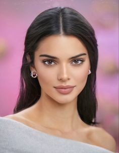 Beautiful Girl Makeup, Beautiful Girl Image, Beautiful Gorgeous, Girl Face, Woman Face, Brunette Beauty, Hair Beauty, Kendall Jenner Pics, Kylie Jenner