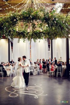 large hanging greenery wedding chandelier
