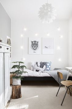 Tytön huone, Scandinavian interior