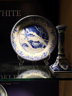 Porceleyne Fles Delft Tile Veere Cool In Summer And Warm In Winter Pottery & Glass Delft
