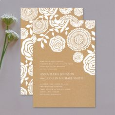Kraft Floral - Invitation