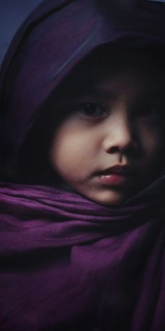 Child in - PURPLE..beautiful child