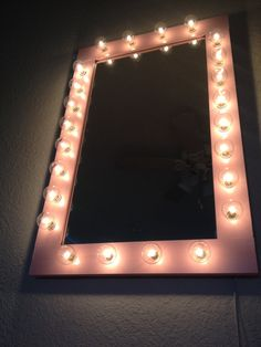 Mirror With Lights Called Pretty N Pink. Vanity Hand Crafted For All Your Beauty…