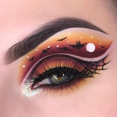 Looking for for ideas for your Halloween make-up? Browse around this website for cute Halloween makeup looks. Makeup Eye Looks, Eye Makeup Art, Cute Makeup, Eyeshadow Makeup, Makeup Eyes, Eye Art, Beauty Makeup, Cute Halloween Makeup, Halloween Party