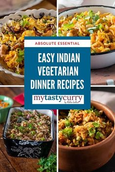 10 Indian dinner recipes that are super quick, easy to make and delicious. Best one pot indian veg recipes for dinner. Vegetarian One pot rice recipes dinner ideas. - Lockdown Recipes One pot Vegetarian Indian Dinner recipes - My Tasty Curry Indian Vegetarian Dinner Recipes, Indian Beef Recipes, One Pot Vegetarian, Healthy Indian Recipes, Rice Recipes For Dinner, Vegetarian Recipes Dinner, Veg Recipes, Healthy Breakfast Recipes, Paneer Recipes