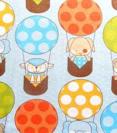 Snuggle Flannel Fabric Baby Balloons