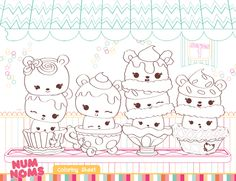 Add some coloring fun to your Num Noms birthday party with these cute coloring sheets!